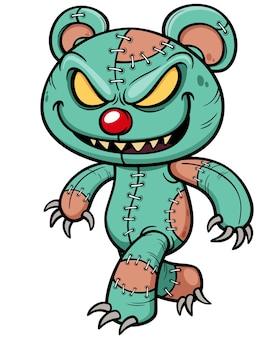 Cartoon böse teddybär