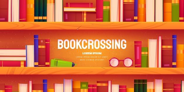 Cartoon bookcrossing-hintergrund