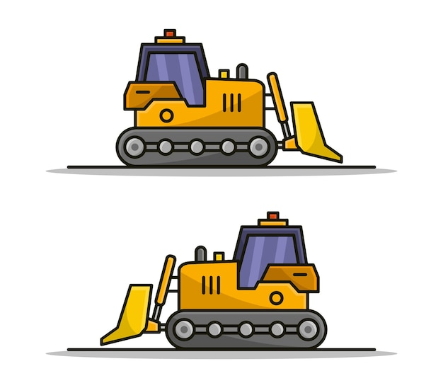 Cartoon bulldozer