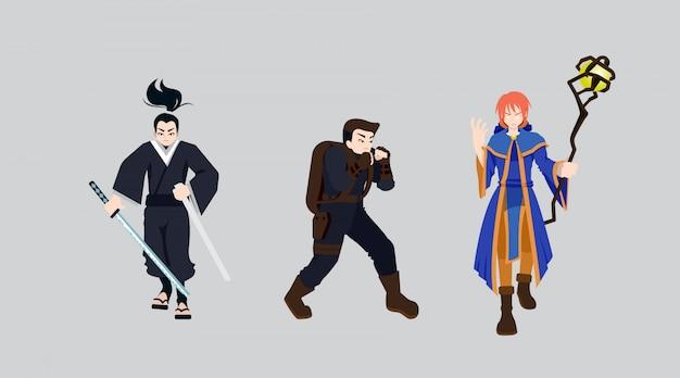 Cartoon charaktere design, flat style