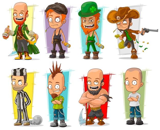 Cartoon cool lustige verschiedene charaktere