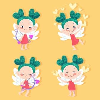 Cartoon cupid charaktersammlung