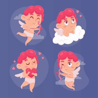 Cartoon cupid zeichensatz