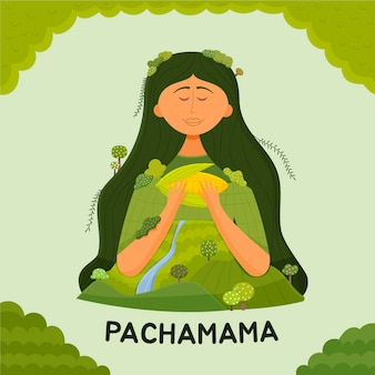 Cartoon dia de la pachamama abbildung