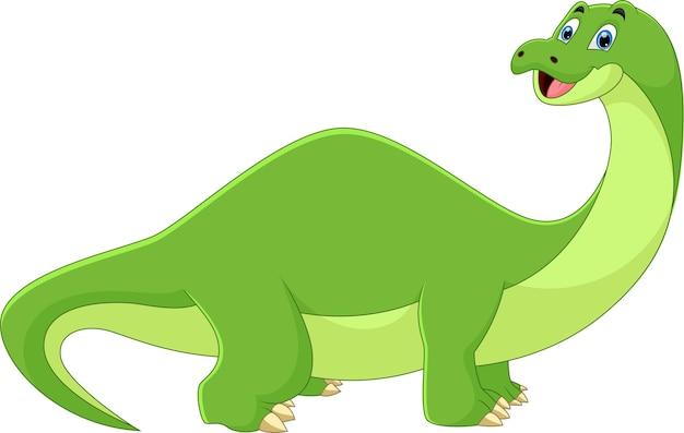 Cartoon dinosaurier lächelnde pose