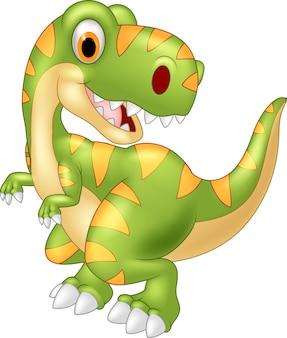 Cartoon dinosaurier posiert