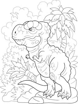 Cartoon dinosaurier tyrannosaurus