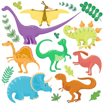 Cartoon dinosaurier.