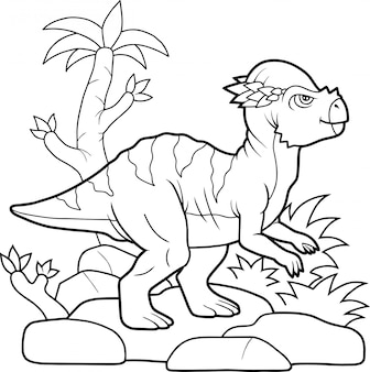 Cartoon dinosaurier
