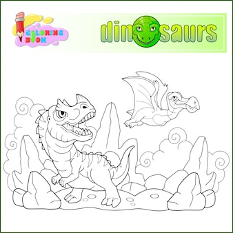 Cartoon-dinosaurier