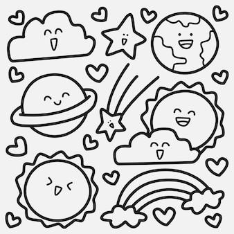 Cartoon doodle färbung design