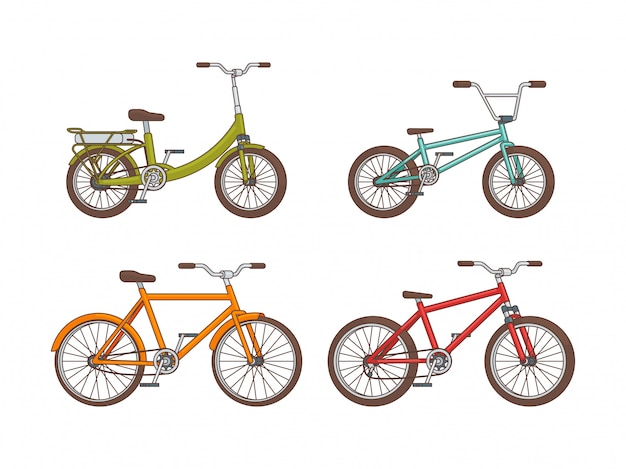 Cartoon fahrräder sammlung