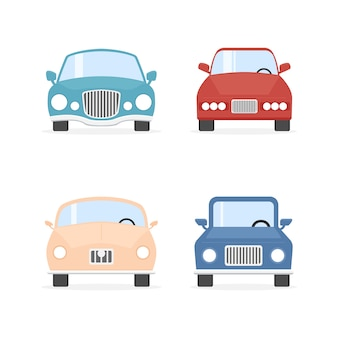 Cartoon farbe autos sammlung.