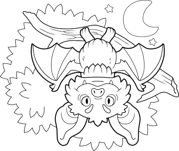 Cartoon fledermaus illustration