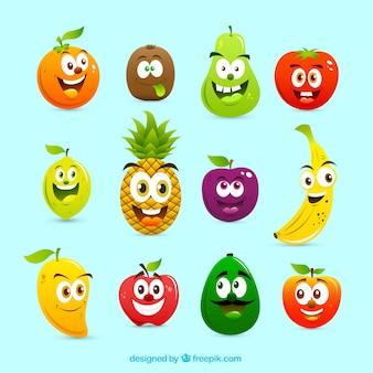 Cartoon früchte