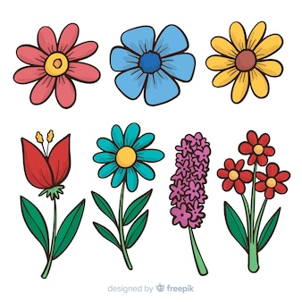 Cartoon frühlingsblumensammlung