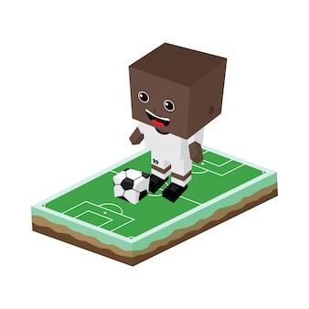 Cartoon-fußballspieler
