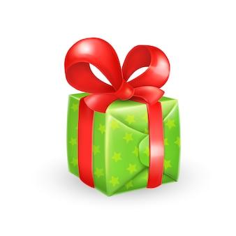 Cartoon geschenkbox mit schleife