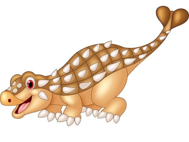Cartoon glücklich ankylosaurus