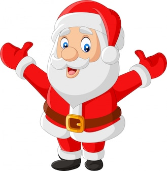 Cartoon glücklich weihnachtsmann winken