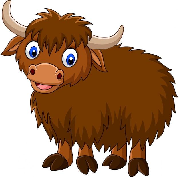 Cartoon glücklich yak
