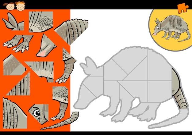 Cartoon gürteltier puzzle-spiel