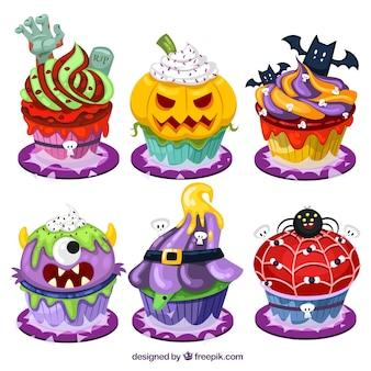 Cartoon halloween-kleine kuchen