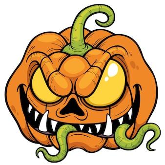 Cartoon halloween kürbis