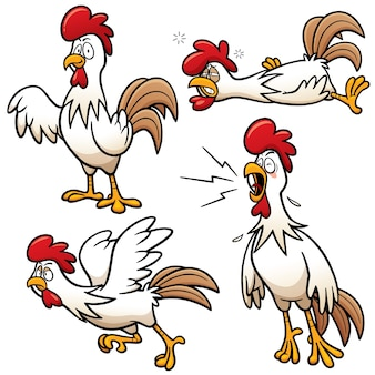 Cartoon huhn charakter