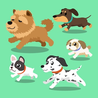Cartoon hunde laufen