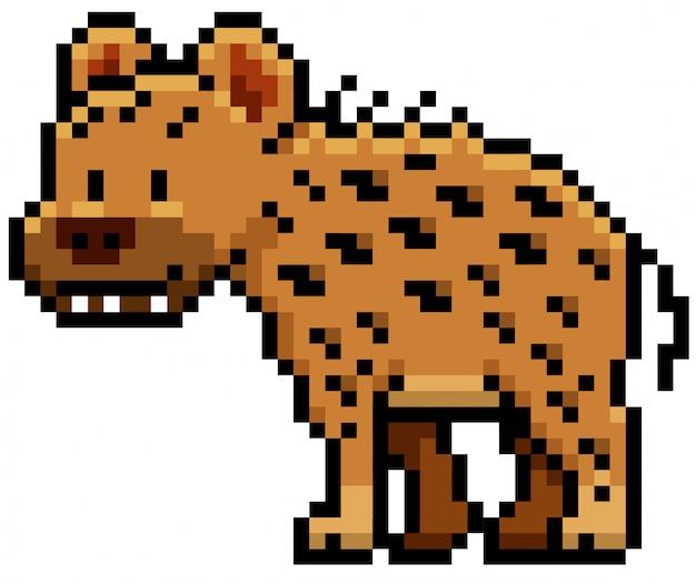 Cartoon hyäne-pixel-design