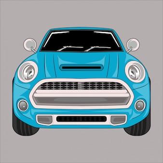 Cartoon illustration auto mini