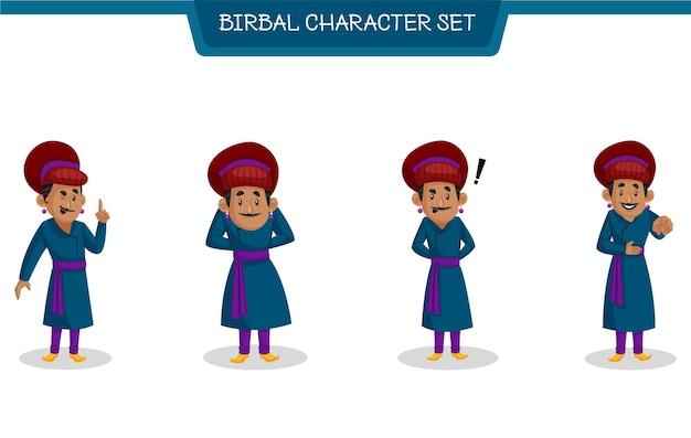 Cartoon-illustration des birbal-zeichensatzes