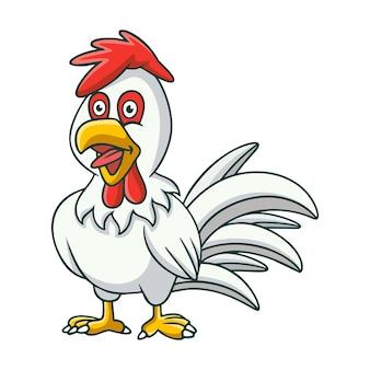 Cartoon illustration hahn krähen
