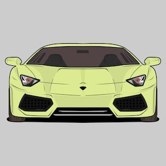 Cartoon illustration sportwagen