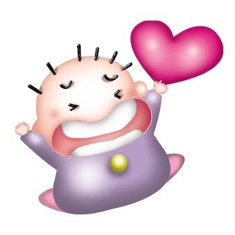 Cartoon junge barbie charakter puppe süß modell emotion abbildung clipart zeichnung kawaii