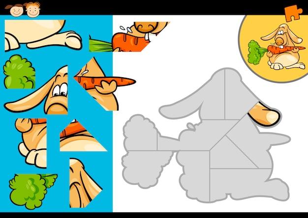 Cartoon-kaninchen-puzzle-spiel