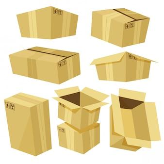 Cartoon-karton-set
