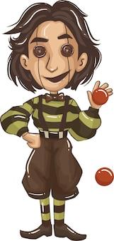 Cartoon-kinder in halloween-kostümen. ideal für partydekoration im halloween-cartoon-stil. vektor-illustration.