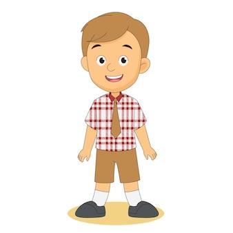 Cartoon-kinder zurück zur schule