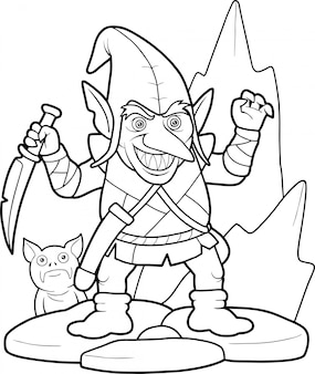 Cartoon-kobold