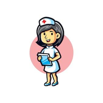Cartoon krankenschwester