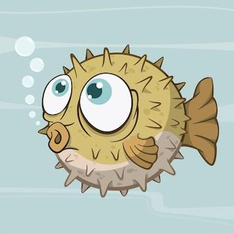Cartoon kugelfisch fugu