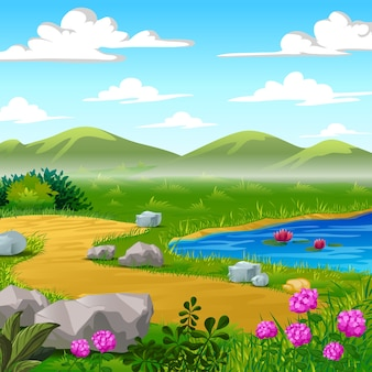 Cartoon landschaft