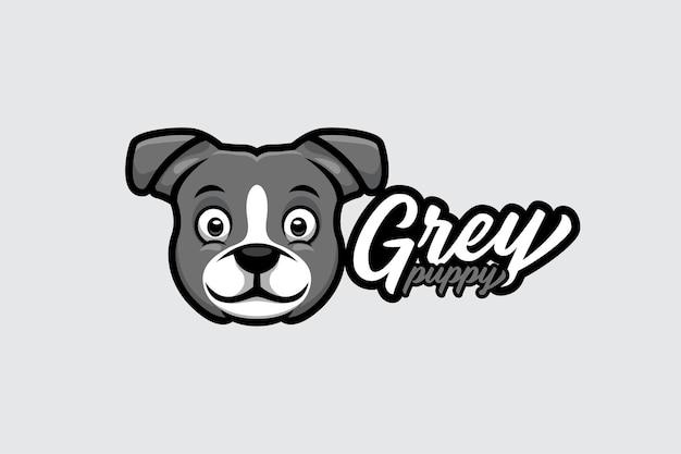 Cartoon-logo für hund mit kreativem und stilvollem konzept