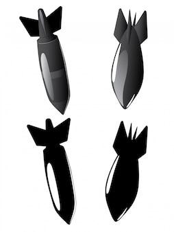 Cartoon-luftbomben-sammlung