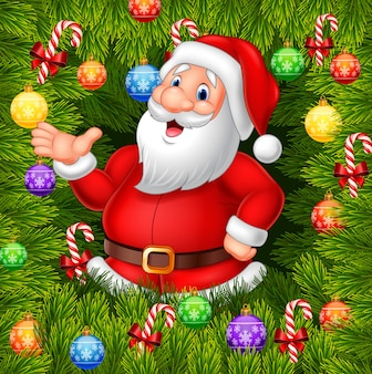 Cartoon lustige weihnachtsmann