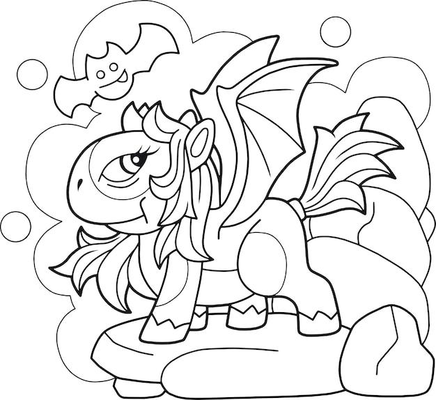 Cartoon lustiges pony