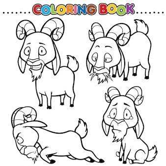 Cartoon malbuch - ziege