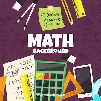 Cartoon math elemente hintergrund